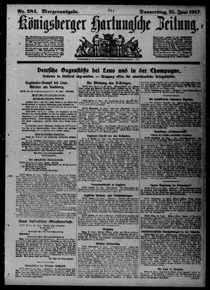 Königsberger Hartungsche Zeitung vom 21.06.1917