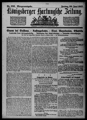 Königsberger Hartungsche Zeitung vom 22.06.1917