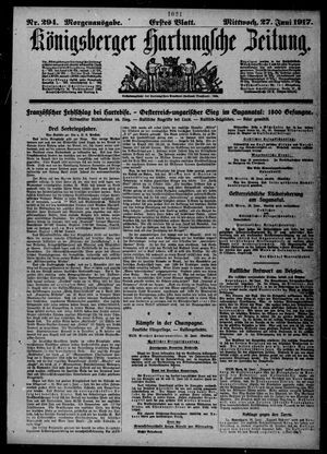 Königsberger Hartungsche Zeitung vom 27.06.1917