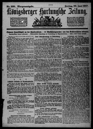 Königsberger Hartungsche Zeitung vom 29.06.1917