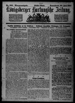 Königsberger Hartungsche Zeitung vom 30.06.1917