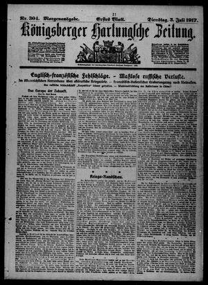 Königsberger Hartungsche Zeitung vom 03.07.1917