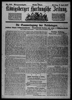 Königsberger Hartungsche Zeitung vom 06.07.1917