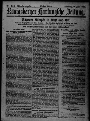 Königsberger Hartungsche Zeitung vom 09.07.1917