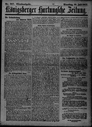 Königsberger Hartungsche Zeitung vom 10.07.1917