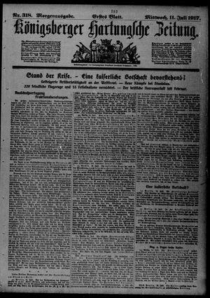 Königsberger Hartungsche Zeitung vom 11.07.1917