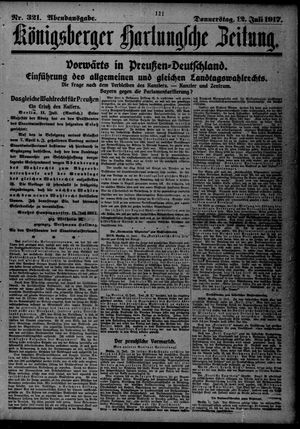 Königsberger Hartungsche Zeitung vom 12.07.1917