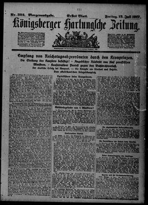 Königsberger Hartungsche Zeitung vom 13.07.1917