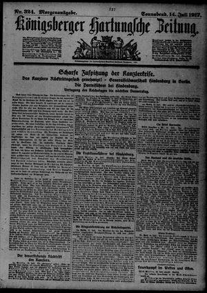 Königsberger Hartungsche Zeitung vom 14.07.1917