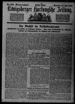 Königsberger Hartungsche Zeitung vom 15.07.1917