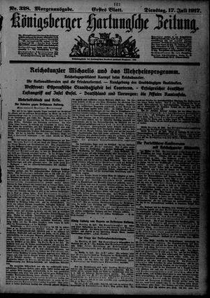 Königsberger Hartungsche Zeitung on Jul 17, 1917