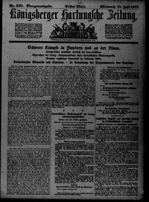 Königsberger Hartungsche Zeitung vom 18.07.1917