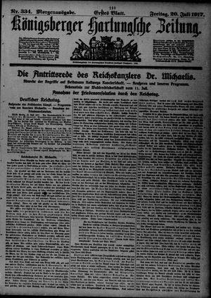 Königsberger Hartungsche Zeitung on Jul 20, 1917