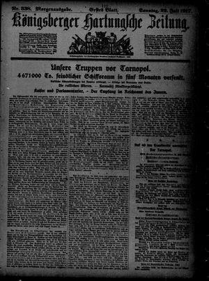 Königsberger Hartungsche Zeitung vom 22.07.1917