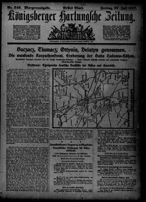 Königsberger Hartungsche Zeitung vom 27.07.1917