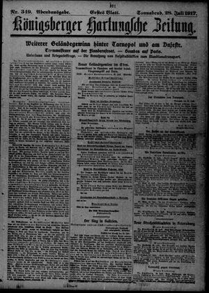 Königsberger Hartungsche Zeitung vom 28.07.1917