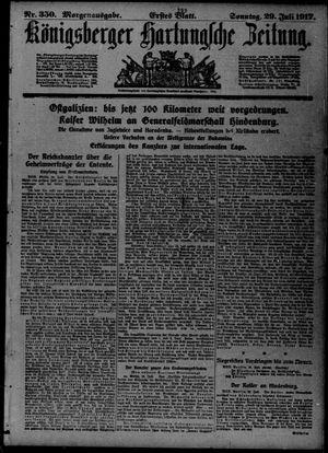 Königsberger Hartungsche Zeitung vom 29.07.1917
