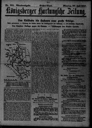 Königsberger Hartungsche Zeitung vom 30.07.1917