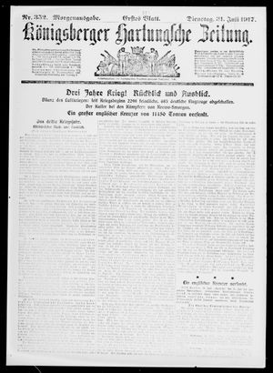 Königsberger Hartungsche Zeitung vom 31.07.1917