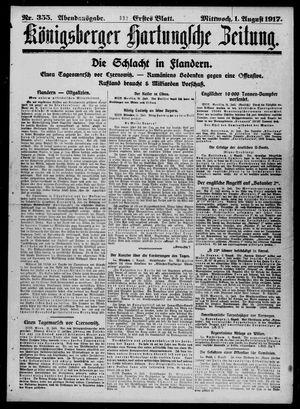 Königsberger Hartungsche Zeitung vom 01.08.1917