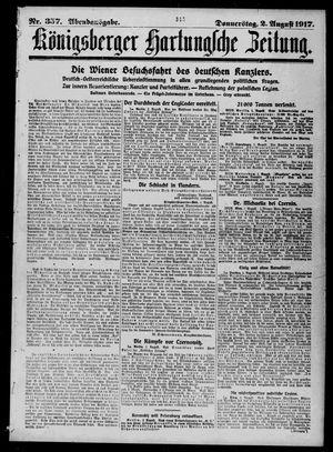 Königsberger Hartungsche Zeitung vom 02.08.1917
