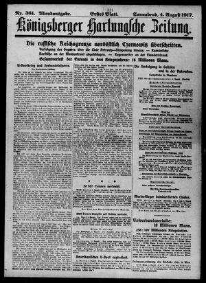 Königsberger Hartungsche Zeitung vom 04.08.1917