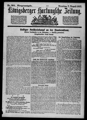 Königsberger Hartungsche Zeitung vom 07.08.1917