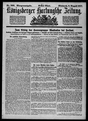 Königsberger Hartungsche Zeitung vom 08.08.1917
