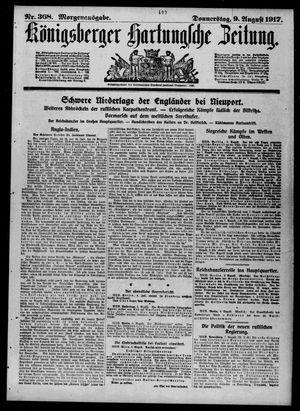 Königsberger Hartungsche Zeitung vom 09.08.1917