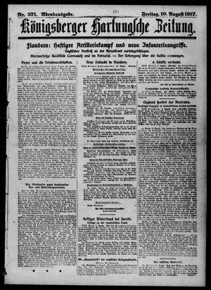 Königsberger Hartungsche Zeitung vom 10.08.1917