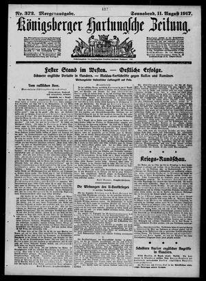 Königsberger Hartungsche Zeitung vom 11.08.1917