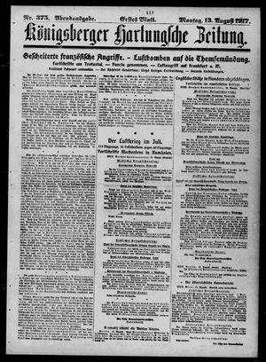 Königsberger Hartungsche Zeitung vom 13.08.1917