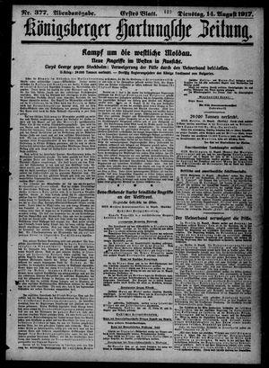 Königsberger Hartungsche Zeitung vom 14.08.1917