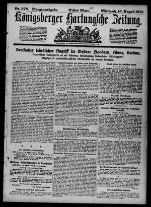 Königsberger Hartungsche Zeitung vom 15.08.1917