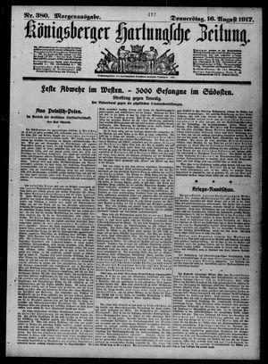 Königsberger Hartungsche Zeitung vom 16.08.1917