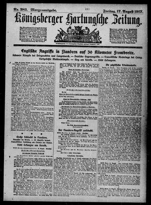 Königsberger Hartungsche Zeitung vom 17.08.1917