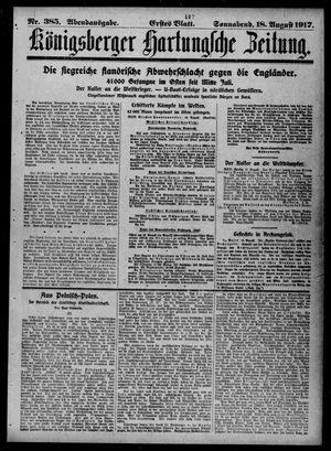 Königsberger Hartungsche Zeitung vom 18.08.1917