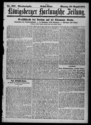 Königsberger Hartungsche Zeitung vom 20.08.1917