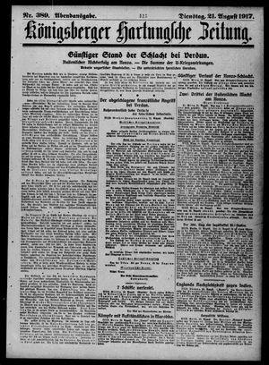 Königsberger Hartungsche Zeitung vom 21.08.1917