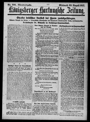 Königsberger Hartungsche Zeitung vom 22.08.1917