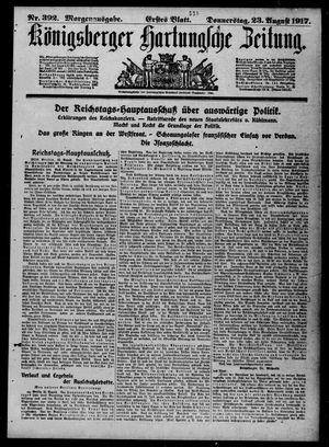 Königsberger Hartungsche Zeitung vom 23.08.1917