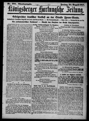 Königsberger Hartungsche Zeitung vom 24.08.1917
