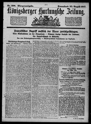 Königsberger Hartungsche Zeitung vom 25.08.1917
