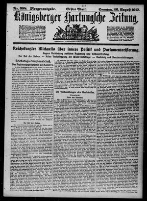 Königsberger Hartungsche Zeitung vom 26.08.1917