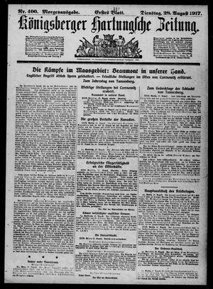 Königsberger Hartungsche Zeitung on Aug 28, 1917