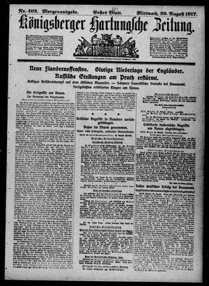 Königsberger Hartungsche Zeitung vom 29.08.1917