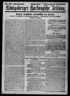 Königsberger Hartungsche Zeitung vom 30.08.1917