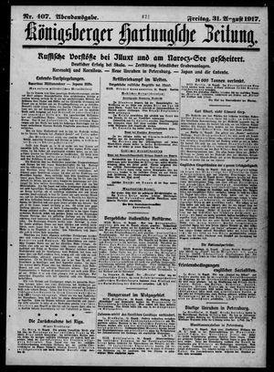 Königsberger Hartungsche Zeitung vom 31.08.1917