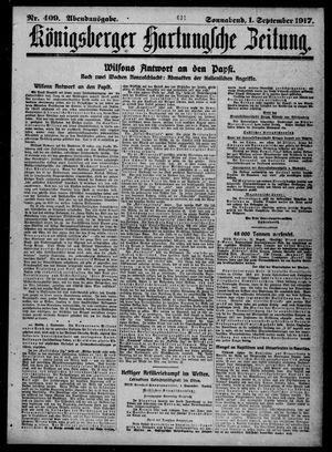 Königsberger Hartungsche Zeitung vom 01.09.1917