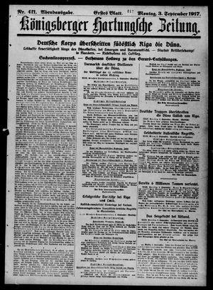 Königsberger Hartungsche Zeitung vom 03.09.1917